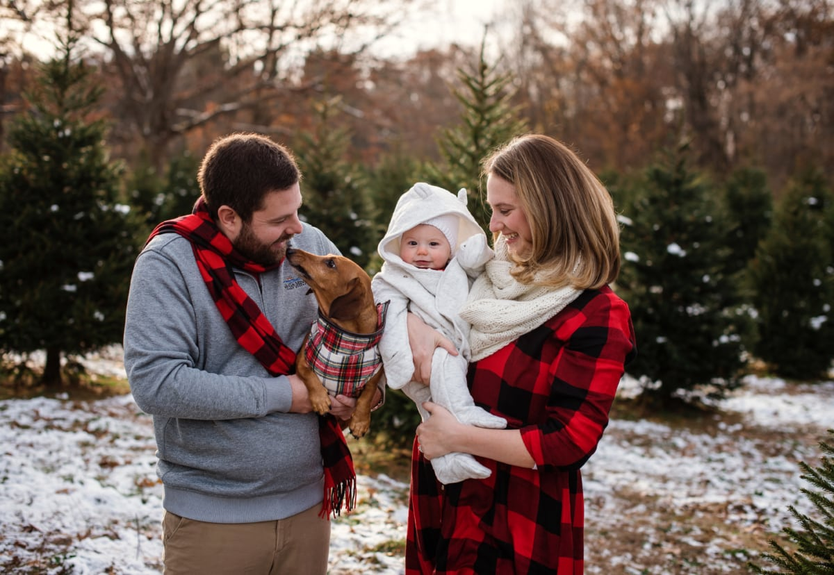 Family Christmas Tree Farm Photography Session Howell MI-385